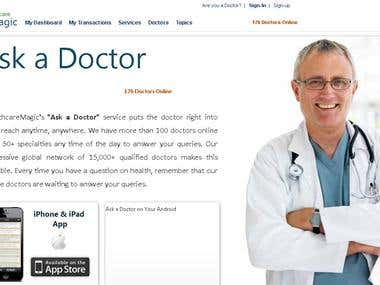ASK FOR DOCTOR DOCTOR WEBSITE with Ecommece PORTAILS