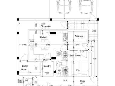 make architecture plans 2d and furniture in autocad