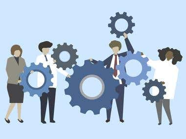 Illustrations for business websites