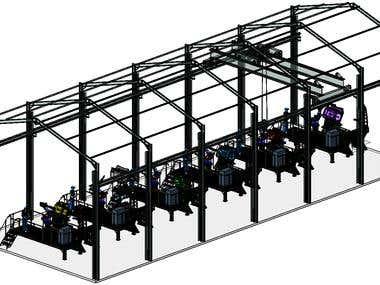 ROBOTIZED WELDING STATION - CATIA V5R21 - WORKSPACE