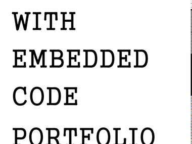 Content with embedded code portfolio