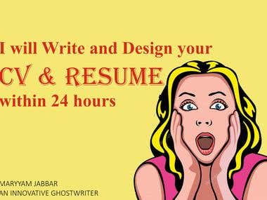 I will write and design your CV & Resume