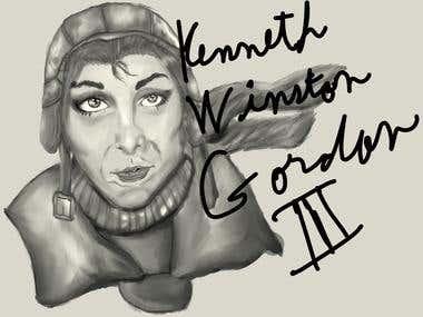 Amelia Earhart Illustration