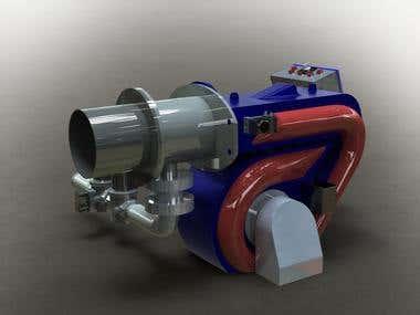 Fuel Burner designed for medium sized Boilers