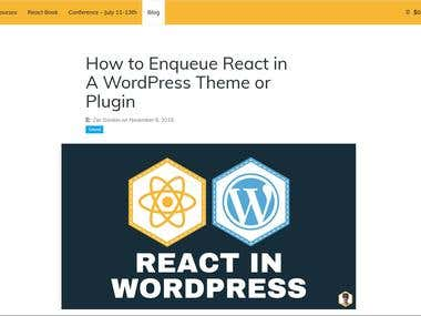 React js themes or wordpress themes