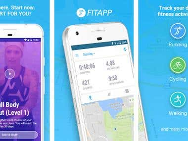 Gps Fitness tracking app