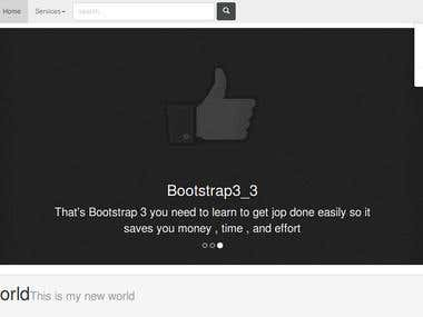 First Bootstrap Template