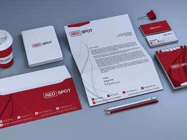 Red corporate identity