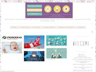 Example of My Work with Blogger