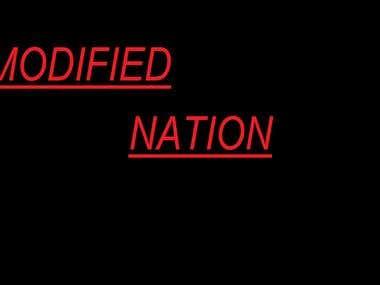 Modified Nation logo design