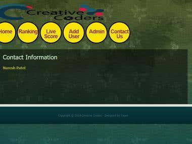Creative Coder Web Application