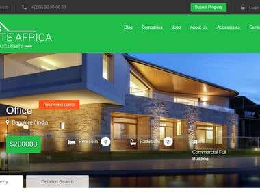 Real Estate website / PHP Laravel & Bootstrap