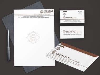 Branding Material Design for Creative enterprise