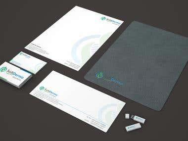 Branding Material design for Soft Derma a Pharma Company