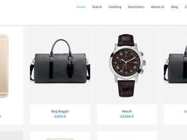 E-commerce website / PHP Laravel