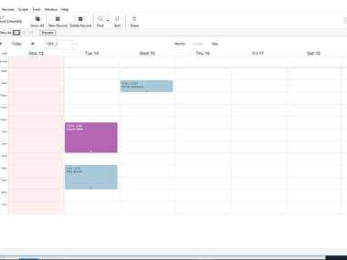 FileMaker - Calendar App
