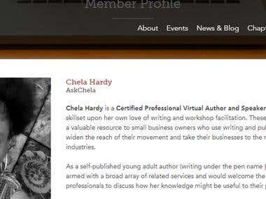 Editorial Freelancers Association Member Profile