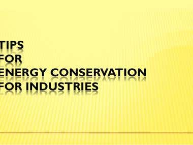Tips for Energy Conservation for Industries