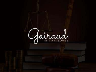 "A logo design for a ""Gairaud Criminal Lawyer"""