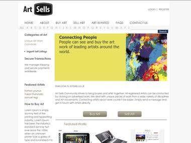 Art Buy Sell Website
