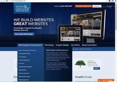 MaxqDesigns Site