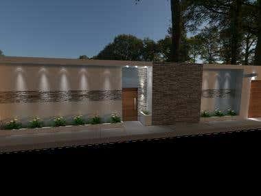 diseño arquitectonico muro perimetral casa