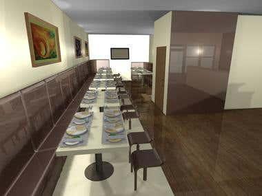 Interior design for restaurant in Stuttgart, Germany