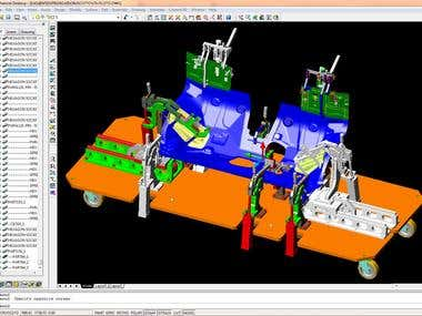 FIXING DEVICES FOR WELDING - AUTOCAD MECHANICAL / SMART CAM