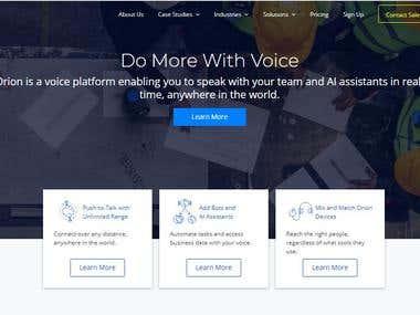 Orion Labs Website