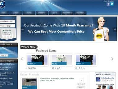 Electric Store - Responsive plus Wordpress