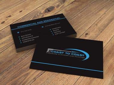 Pressure Cleaning and Painting Business Logo & Card Design