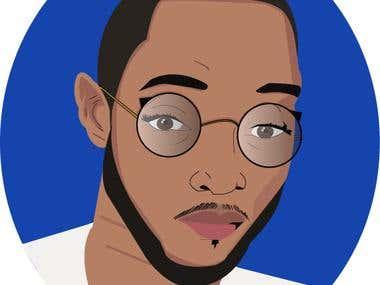 Digital Cartoon Self-Portrait