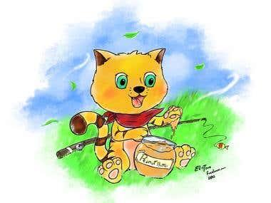 Children Book Cat Character