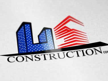US Construction Company Logo and Flyer Design