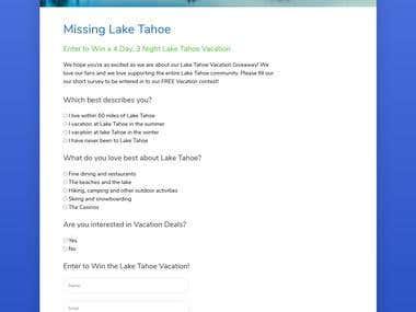Survey form with API request