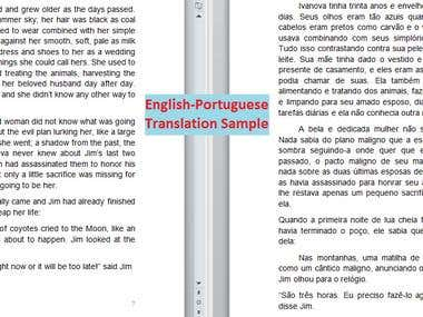 Book translation example