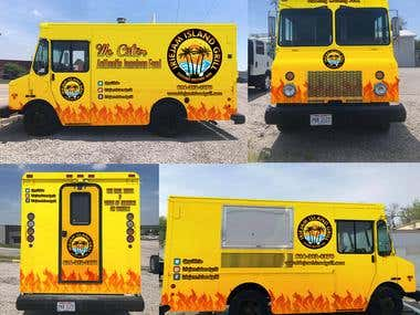 Food Truck Wrapping Design