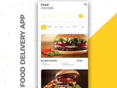 Food Delivery App- UI Design