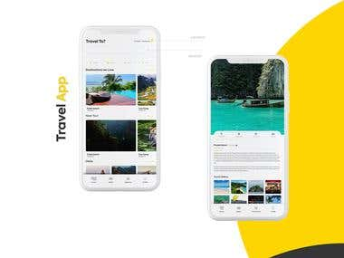 Travel Booking App UI/UX