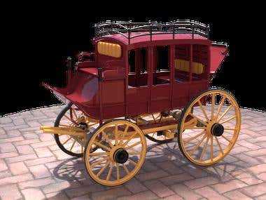 Horse Carriage Model