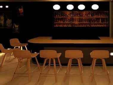 Restaurant Interior Design in Revit Acrh