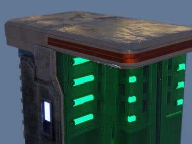 3D Model of science fiction mutation generator