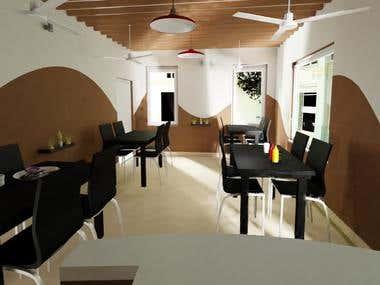 Interior Design of cafe