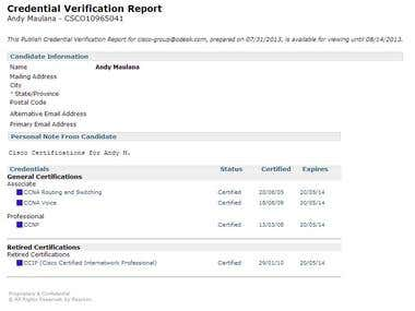 Cisco Credentials