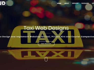 Design the webiste of Taxi Company