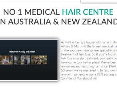 Website for MEDICAL HAIR CENTER