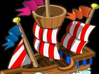 Pirate Ship for Super Jelly Monsters