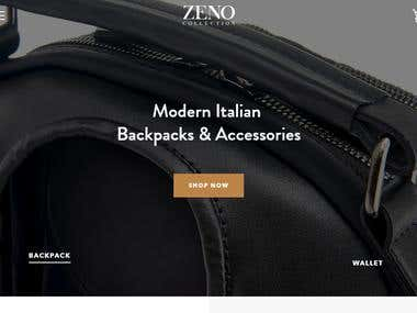 Shopify Backpack Store (Zeno Collection)