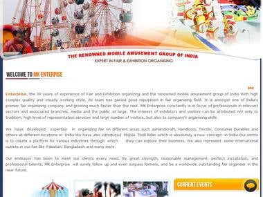 Amusement & Fair Exhibition Website
