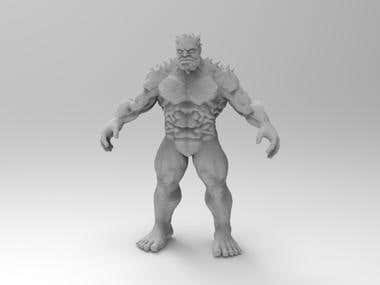3D Printable Muscled Man